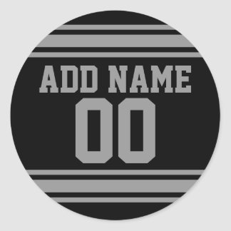 Football Jersey - Customize with Your Info Classic Round Sticker