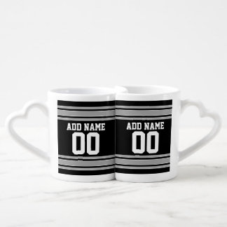 Football Jersey - Customize with Your Info Couples' Coffee Mug Set