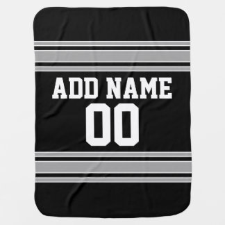 Football Jersey - Customize with Your Info Receiving Blanket