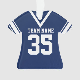 Football Jersey Dark Blue Uniform Ornament