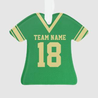 Football Jersey Green Gold Uniform Ornament