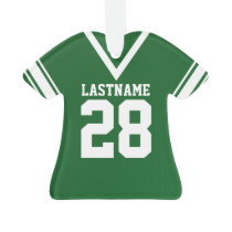 Football Jersey Green Uniform Ornament