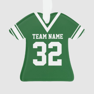 Football Jersey Green Uniform with Photo Ornament