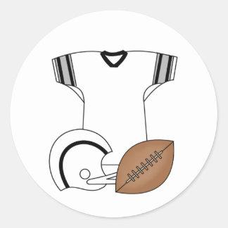 Football,Jersey, Helmet Classic Round Sticker
