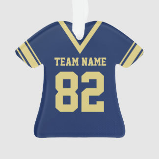 Football Jersey Navy Blue Gold Uniform with Photo