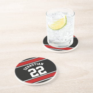 Football Jersey Novelty Personalized Name Beverage Coasters