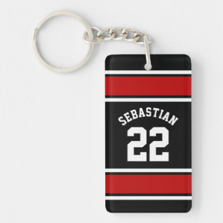 Football Jersey Novelty Personalized Name Keychain