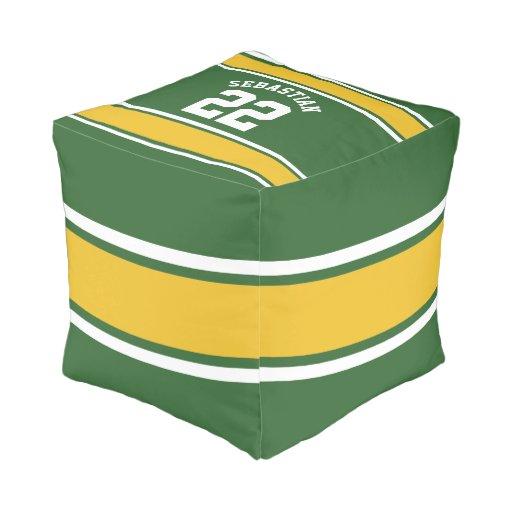 Football Jersey Novelty Personalized Name Pouf Zazzle