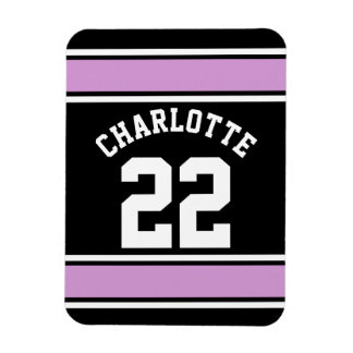 Football Jersey Novelty Personalized Name Rectangular Magnets