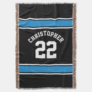 Football Jersey Novelty Personalized Name Throw Blanket
