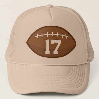 Football Jersey Number 17 Gift Idea Trucker Hat