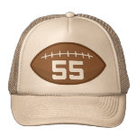 Football Jersey Number 55 Gift Idea Mesh Hat