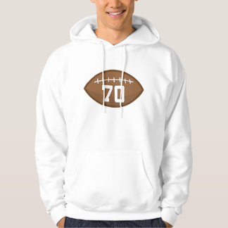 Football Jersey Number 70 Gift Idea Hoodie