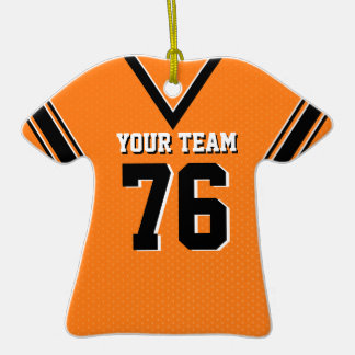 Football Jersey Orange and Black Ornament