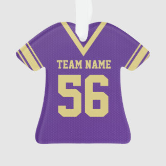 Football Jersey Purple Gold Uniform with Photo
