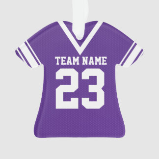 Football Jersey Purple Uniform Ornament