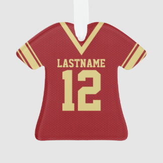 Football Jersey Red Gold Uniform Ornament