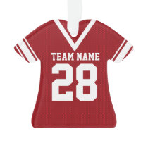 Football Jersey Red Uniform Ornament