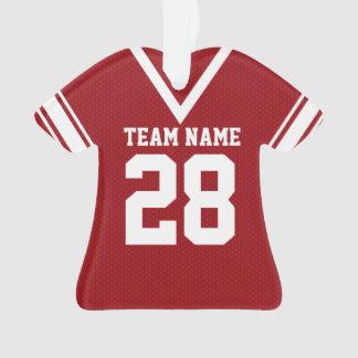 Football Jersey Red Uniform Ornament
