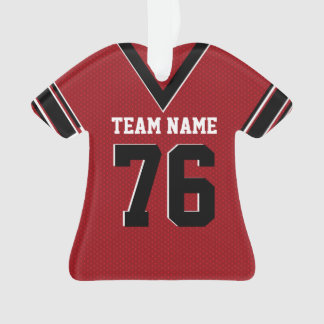 Football Jersey Red Uniform with Photo Ornament