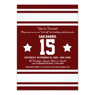 Football Jersey Stripes Birthday Party Invites