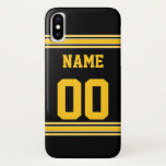 "Football Jersey with Area To Customize iPhone X Case<br><div class=""desc"">A fun design for your phone.</div>"