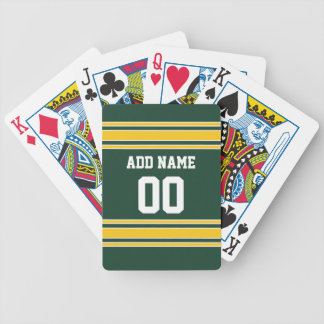 Football Jersey with Custom Name Number Bicycle Playing Cards