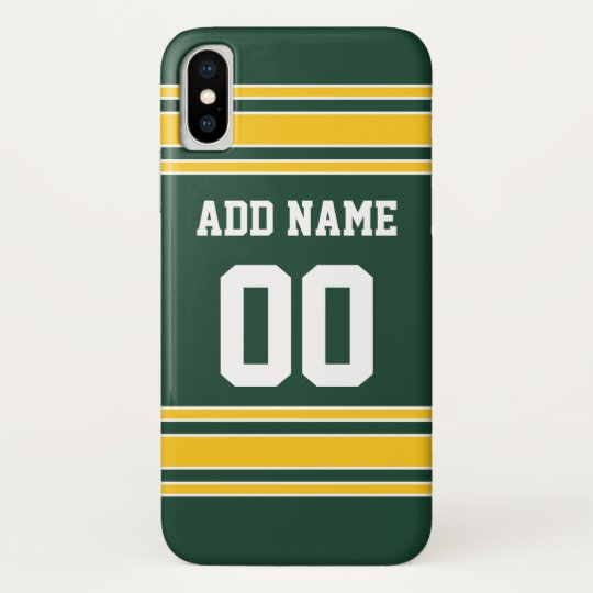 fd61b9eb0 Football Jersey with Custom Name Number Case-Mate iPhone Case | Zazzle.com