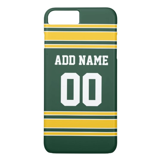Football Jersey with Custom Name Number iPhone 8 Plus/7 Plus Case