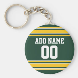 Football Jersey with Custom Name Number Keychain