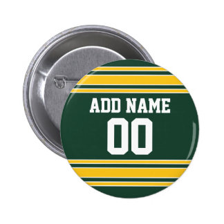 Football Jersey with Custom Name Number Pinback Button