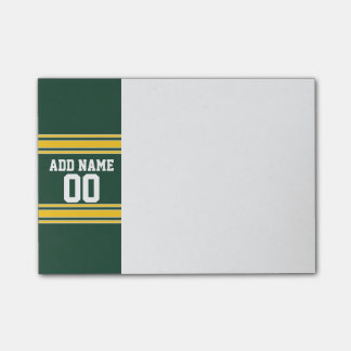 Football Jersey with Custom Name Number Post-it® Notes