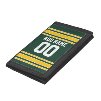Football Jersey with Custom Name Number Tri-fold Wallets