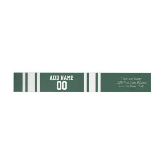 Football Jersey with Custom Name Number Wrap Around Label
