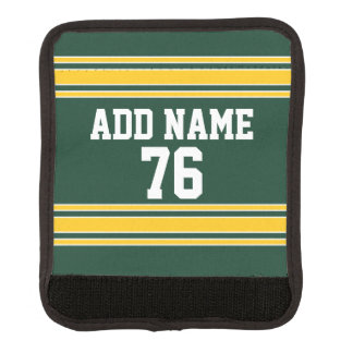 Football Jersey with Custom Name Number Luggage Handle Wrap