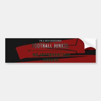 Football Junkie Bumper Sticker
