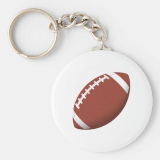 Football! Basic Round Button Keychain