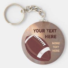 Football Keychain at Zazzle