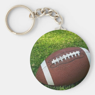 Football Basic Round Button Keychain