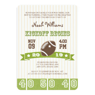 FOOTBALL KICKOFF ANY AGE BIRTHDAY CARD