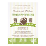 FOOTBALL KICKOFF COUPLES BABY SHOWER CARDS