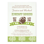 FOOTBALL KICKOFF COUPLES BABY SHOWER 5X7 PAPER INVITATION CARD