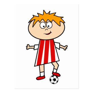 Football Kid Postcard