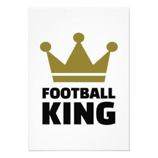 Football King champion Personalized Invitations