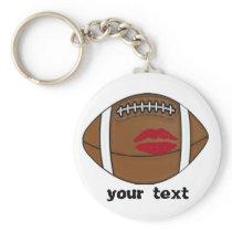football kiss keychain