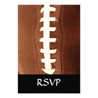 Football Laces Graphic Custom Invitations