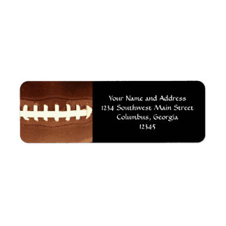 Football Laces Graphic Custom Return Address Labels