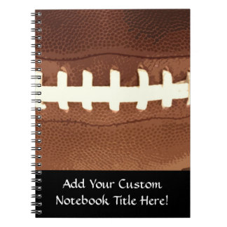 Football Laces Graphic Spiral Note Books