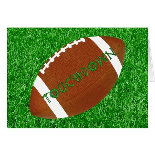 Football & Lawn Greeting Cards