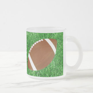 Football & Lawn Frosted Glass Coffee Mug